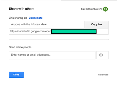 Embed Google Data Studio Share With Others Dialog Small For Mobile