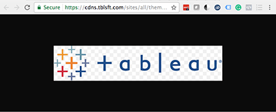 Tableau logo how to find it