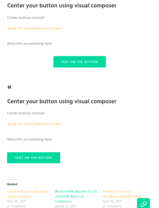 Dev3lop's quick centering button demo – Centered button VS Non-centered button!