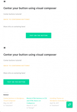 centering buttons helps bounce rate.