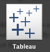 Tableau Desktop icon on a Mac.