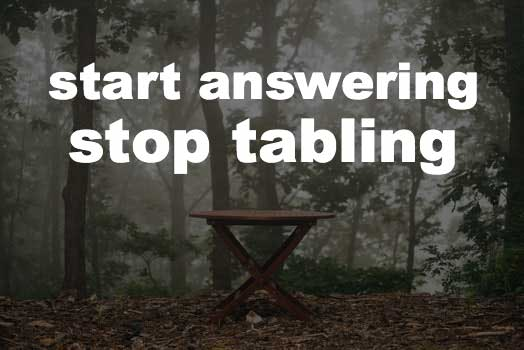 Tabling can't be the only answer when tableau consultants need help
