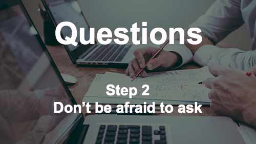 Writer's Block Meme - how to get rid of writer's block step 2 - questions don't be afraid to ask image