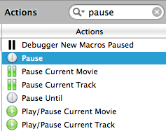 Finding pause in keyboard maestro