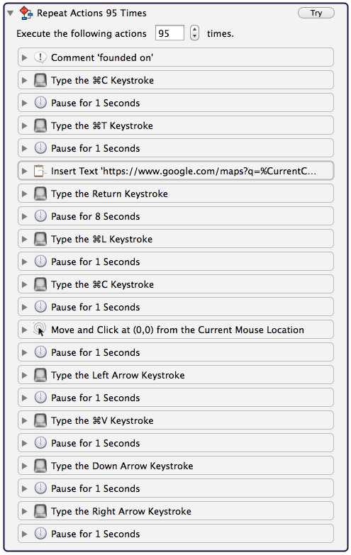 split url to column google sheets screen shot of keyboard maestro scraping from googlesheets column and pasting