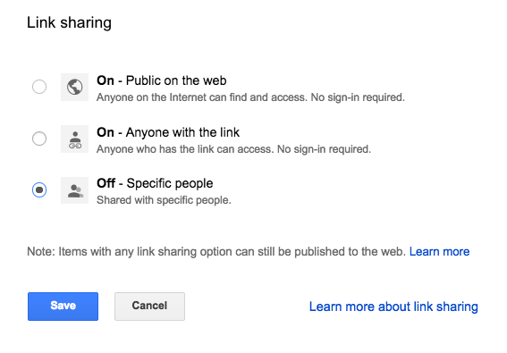 embed google data studio link sharing options changed