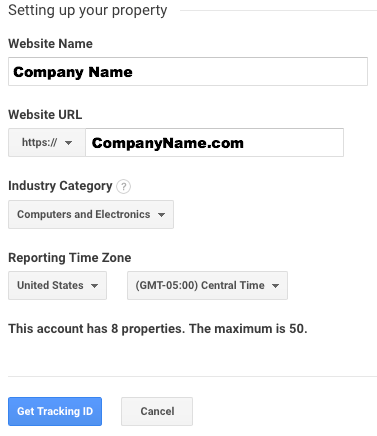 learn how to setup google analytics setting up your property