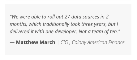 domo quote about 27 data sources taking more than a few hours.