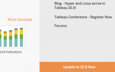 Tableau Desktop 10.5 Update is Here!