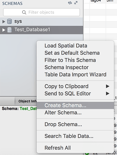 create schema on mysql mac os mysql workbench alt text