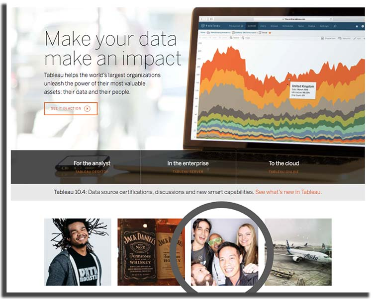 dev3lop founder tyler on home page of tableau