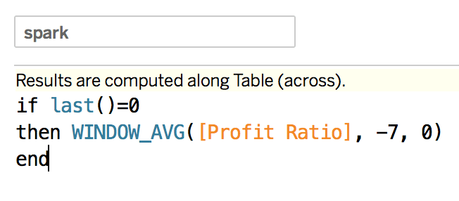 optimized sparkline calculation in a tableau calculation alt text