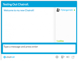 testing out chatroll setting up a free chatroom on your website - alt text dev3lop.com